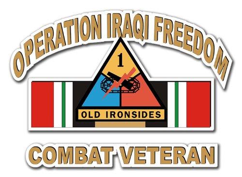 1st Armor Division Iraq Combat Veteran Operation Iraqi Freedom OIF Decal Sticker 5.5