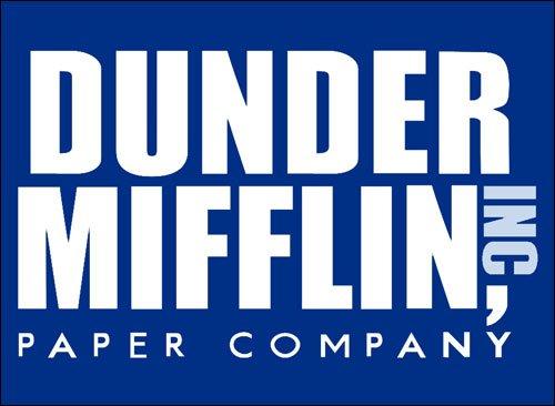 American Vinyl Blue Dunder Mifflin Paper Company Logo Sticker (The Office Funny tv Show)