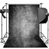 ANVOT Photography Backdrop, 5x7 ft Retro Art Black Grey Portrait Backdrop For Studio Props Photo Backdrop