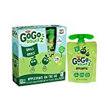 GoGo squeez Applesauce On The Go, Apple Apple, 3.2 Ounce Pouches, 4 Count(Pack of 12)