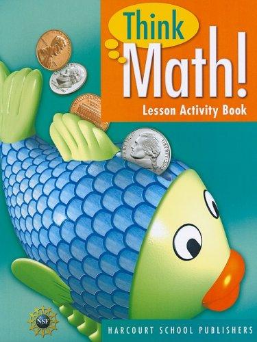 Think Math! Lesson Activity Book, Grade 1 (Think Math Grade 1)