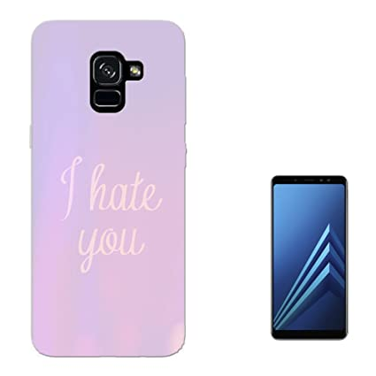 003277   I Hate You Quote Purple Background Design Samsung Galaxy A8+ PLUS ( 2018)