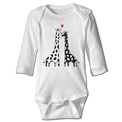 Couples Costume Birth (Baby Bodysuit Giraffes Couple In Love One Piece Baby Long Sleeve Girl Jumpsuit 12 Months White)