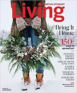 Martha Stewart Living December 2017 Meredith Amazon Com Books