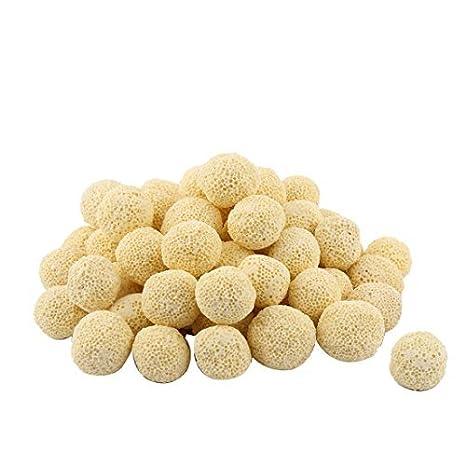 DealMux cerámica peces redondos del acuario del tanque de 22 mm bola filtro biológico 57pcs Dia amarillo: Amazon.es: Productos para mascotas