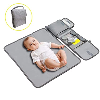 Baby Travel Changing Nappies Mat Waterproof Portable Foldable Diaper Pad Storage