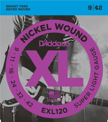 D'Addario EXL120 Nickel Wound Electric Guitar Strings, Super