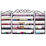go2buy 3PCS Nail Polish Rack Wall Mounted Makeup Organizer, 5 Layers Nail Polish Organizer, Black