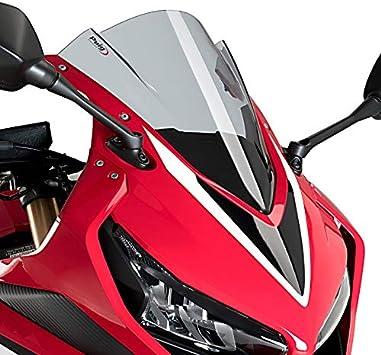 Racingscheibe f/ür Honda CBR 500 R 2019 schwarz Puig 3613n