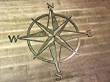 16″ to 36″ Rustic Patina Nautical Star Compass Steel Wall Decor wall hanging art