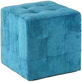 Amazon Com Cortesi Home Braque Tufted Cube Ottoman In