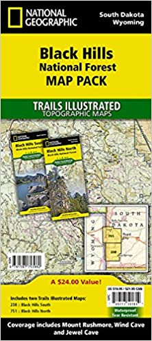 Black Hills National Forest Map Pack: Topographic Trail Maps ...