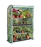 Extra-wide 4 ft. W x 5.6 ft. H Deluxe 4-Tier Portable Greenhouse Product SKU: GH120403