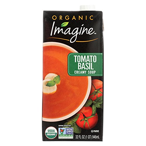 Imagine Foods Tomato Basil Soup - Creamy - Case of 12 - 32 oz. by Imagine Foods