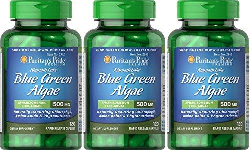Alga Klamath 500 mg 120 cápsulas. Puritans Pride (Pack de 3u): Amazon.es: Salud y cuidado personal