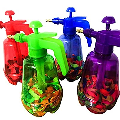 headytidy Water Balloon Portable Filling Station 3-in-1 Pump Fills Balloons with Water Or Air -300 Balloons and Water Pump for Kids Creative Birthday, Parties and More (Colors Will Vary): Home & Kitchen