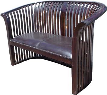 Amazonde Guru Shop Kolonialstil Sofa Aus Teakholz 90x140x70 Cm