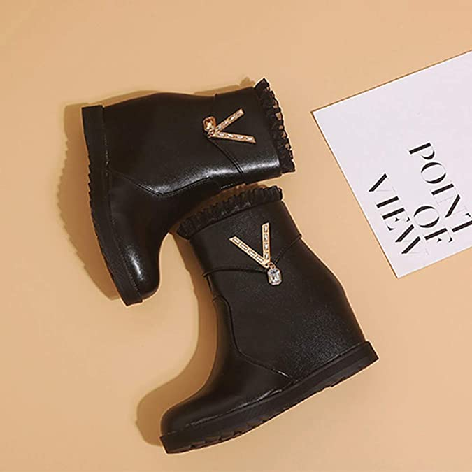Amazon.com   Inakch Womens Winter Wedges Boots Lace Side Zipper Short Ankle Booties Martin Boots Flat Shoes Yellow   Shoes