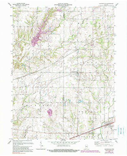 YellowMaps Coatesville in topo map, 1:24000 Scale, 7.5 X 7.5 Minute, Historical, 1970, Updated 1983, 27 x 22 in - Paper