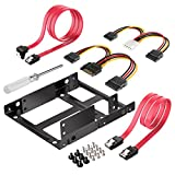 "Inateck ST1002S 2""x2.5"" SSD to 3.5"" Internal Hard Disk Drive Mounting Kit Bracket (SATA Data and Power Cables included)"