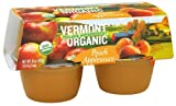 Vermont Village Organic Peach Applesauce, 4 Ounce -- 12 per case.