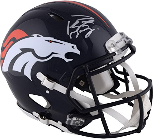 (Peyton Manning Denver Broncos Autographed Riddell Speed Pro-Line Helmet - Fanatics Authentic Certified)