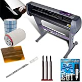USCutter Vinyl Sign Making Kit MH 34' Vinyl Cutter Bundle w/Software, Vinyl, Tape, Blades
