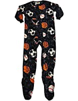 Fun Footies - Little Boys' Sport Balls Blanket Sleeper