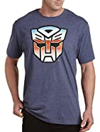 True Nation by DXL Big and Tall Distressed Transformers Graphic Tee