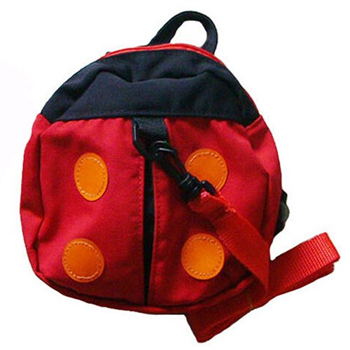 Baby Kid Toddler Keeper Walking Safety Harness Backpack Leash Strap Bag (Red)