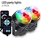 [2-Pack] AFBEST LED Party Lights with Remote Control Dj Lighting, Lamp 7 Modes Stage Par Light for Home Room Dance Parties Birthday DJ Bar Karaoke Xmas Wedding Show Club Pub