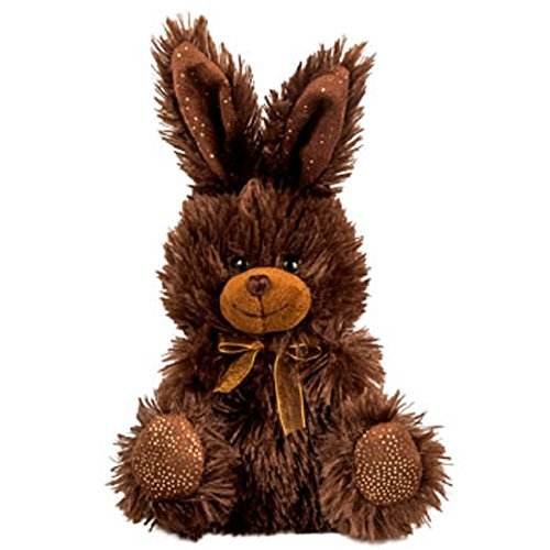 Chocolate-Scented Plush Stuffed Easter Bunny Rabbit with Ribbon 7 in. - BROWN - (Stuffed Easter Rabbits)