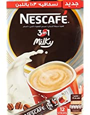 قهوة بالحليب سريعة التحضير 3 في 1 من نسكافيه - 12 ظرف