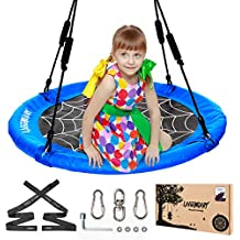 "40"" Round Saucer Tree Swing For Kids 