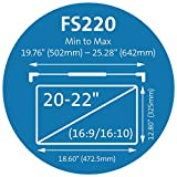 Kensington FS220 Snap2 Privacy Screen for 20-Inch to 22-Inch Widescreen 16:10 Monitors (K55779WW)