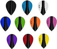 10 x Sets Harrows Retina X Mixed Colour Dart Flights Pear