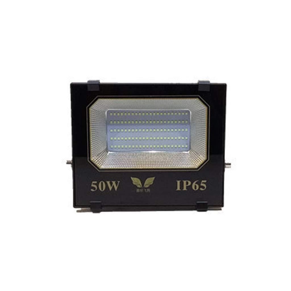 Faretto Led Esterno,All'aperto Illuminazione Impermeabile Super Luminoso Ad Alta Potenza Guidato Riflettore 200w Lampada Quadrata (dimensioni   50W)