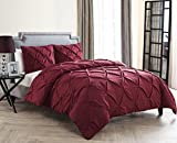 King Size Comforter Sets King Size Comforter Set in Burgundy Posh Pintuck 4 Pc Set w/ Decorative Pillows