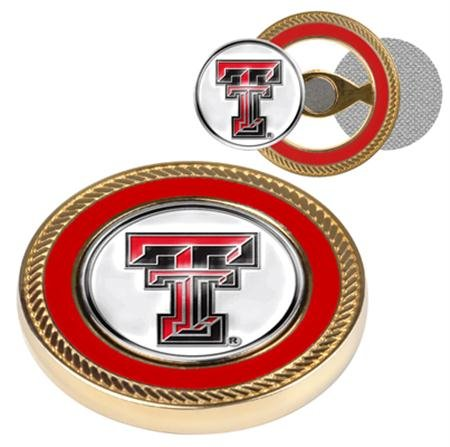 Set Commemorative Poker (Texas Tech Red Raiders NCAA Challenge Coin & Ball Markers)