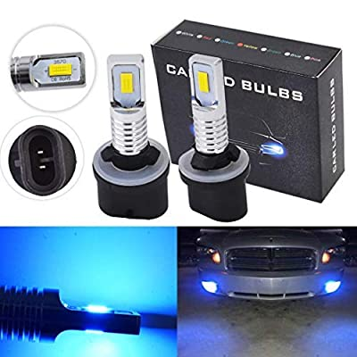 2X 880 885 891 893 899 8000K Ice Blue 35W LED Fog Lights Bulbs Kit Fog Driving Light: Automotive