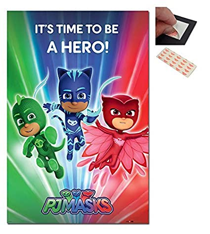PJ Masks Be A Hero Poster - 91.5 x 61cms (36 x 24 Inches)