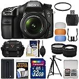 Sony Alpha A68 Digital SLR Camera & 18-55mm Lens with 32GB Card + Battery + Case + Tripod + Filter + Tele/Wide Lens Kit