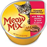 Meow Mix 29274-00617 Tender Favorites With Real Chicken & Beef Sauce Wet Cat Food