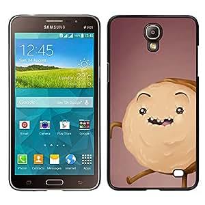 [Neutron-Star] Snap-on Series Teléfono Carcasa Funda Case Caso para Samsung Galaxy Mega 2 [Cookie Cake Monster Drawing Brown]