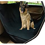 Best Dog Waterproof Hammock (100% WATERPROOF) Perfect Backseat Seat Cover for All Type of Pets and All Types of Vehicles Cars, Trucks, Vans, SUVs Best Protector for Unwanted Pet Hair, Dirt, Mud, Slobber (black)