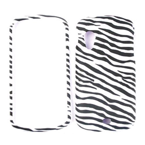 White and Black Zebra Pattern Snap on Cover Faceplate for Samsung stratosphere i405 Zebra Samsung Faceplates