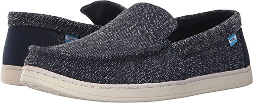 Aiden Slipon Schuh black washed canvas Navy Two-tone Woven
