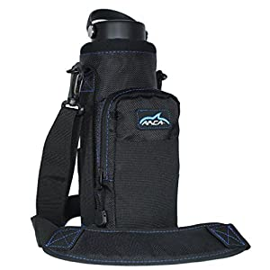 Arca Gear Hydro Carrier for 40 oz Water Bottles - Stay Hydrated Not Hassled / Dual Carry Handles, Water Resistant Pocket fits ANY Cell phone, Built in Wallet and Adjustable Shoulder Strap