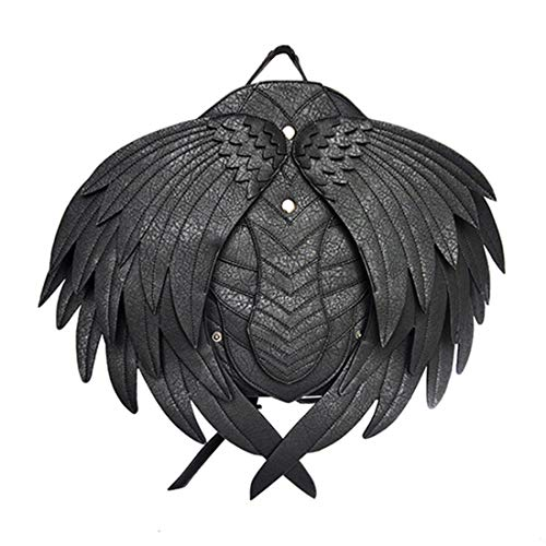 - Qhome Black Angel Wings Victorian Retro Shoulder Bags Steampunk Goth PU Leather Holster Bags