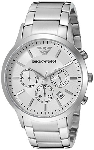 Sportivo Mens Stainless Steel Watch - Emporio Armani Men's AR2458 Dress Silver Watch
